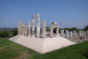 Apollon Smintheion ancient city in Gulpinar, Canakkale, Turkey