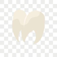 Premolar vector icon isolated on transparent background, Premolar logo design