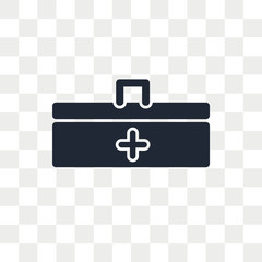 First aid kit vector icon isolated on transparent background, First aid kit logo design