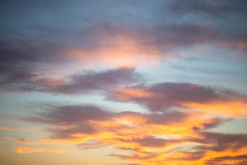 the setting sun