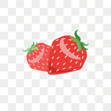 Strawberry vector icon isolated on transparent background, Strawberry logo design