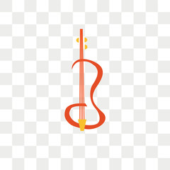 Violin vector icon isolated on transparent background, Violin logo design