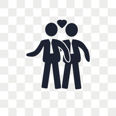 Gay Couple vector icon isolated on transparent background, Gay Couple logo design