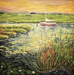 Gemälde Boot