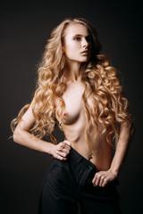 beautiful topless girl