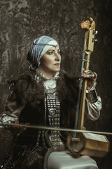 mature woman in costume