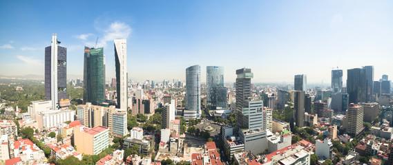 Panorama del skyline del Paseo de la Reforma Papier Peint