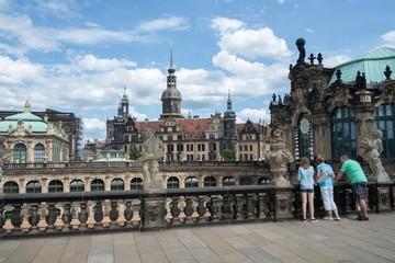Fond de hotte en verre imprimé Vienne Dresden Zwinger