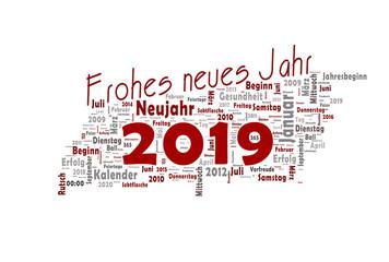 2019 Viel Glück Happy New Year