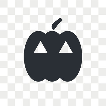 Pumpkin vector icon isolated on transparent background, Pumpkin logo design
