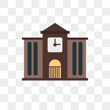 Town hall vector icon isolated on transparent background, Town hall logo design