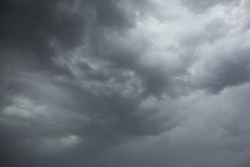Dark storm clouds in the sky before a rain