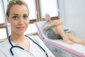 portrait of female physiotherapist in clinic
