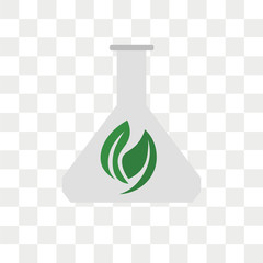 Flask vector icon isolated on transparent background, Flask logo design