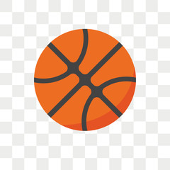 Basketball vector icon isolated on transparent background, Basketball logo design