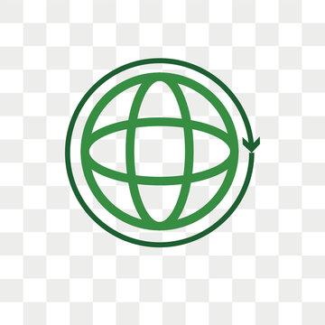Worldwide vector icon isolated on transparent background, Worldwide logo design
