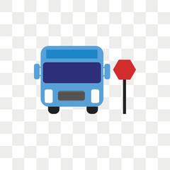 Public transport vector icon isolated on transparent background, Public transport logo design