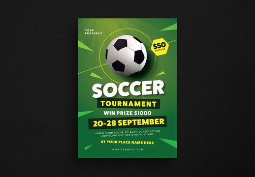 Soccer Tournament Flyer Layout