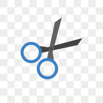 Cut vector icon isolated on transparent background, Cut logo design