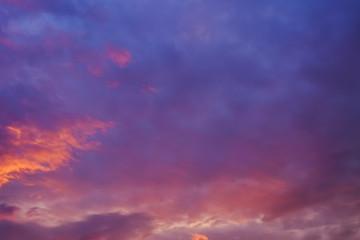 Dramatic sunset sky