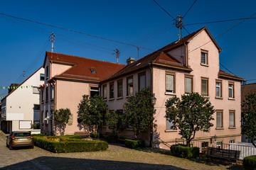 Das denkmalgeschützte Hölderlinhaus (der ehemalige Schweizerhof) in Nürtingen, in dem der Dichter Teile seiner Kindheit und Jugend verbrachte