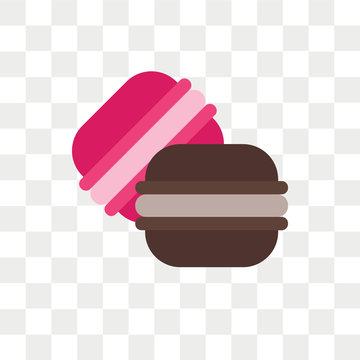 Macarons vector icon isolated on transparent background, Macarons logo design