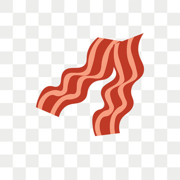Bacon vector icon isolated on transparent background, Bacon logo design