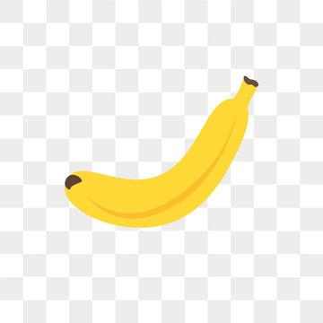 Banana vector icon isolated on transparent background, Banana logo design
