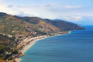 Taormina seacoast, Sicily, Italy