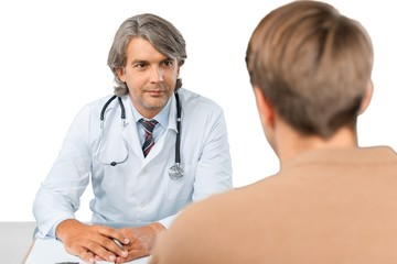 Portrait of a Doctor Talking with Patient