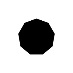 decagon... icon. Elements of Geometric figure icon for concept and web apps. Illustration  icon for website design and development, app development. Premium icon