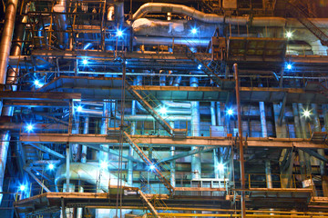 Industrial equipment. Factory. Interior
