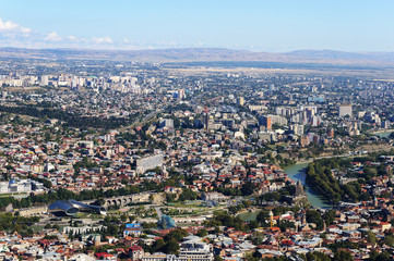 View from above of Tbilisi