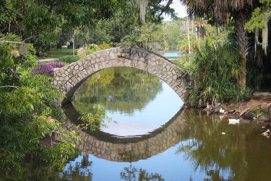Stone Bridge in New Orleans Park