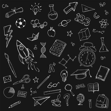 School Stationary Doodles Bundle Pack