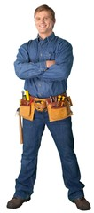 construction man with arms crossed portrait