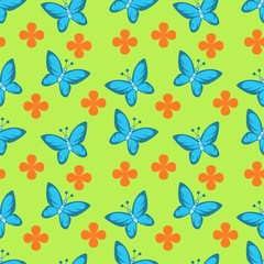 seamless butterfly pattern for background, clothes, pillow etc