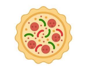 Pizza image vector icon logo