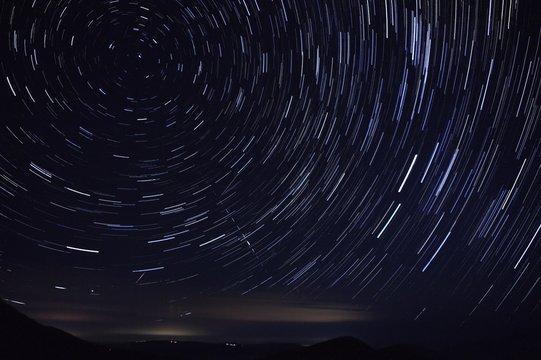 星空 円周運動 軌跡 ペルセウス座流星群 2018年8月13日