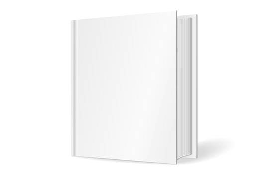 3D Vector mock up of standing book on white