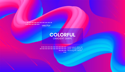 Abstract 3d Background. Colorful Wave Fluid Shape.