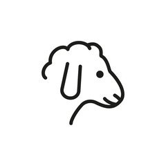 Mutton line icon. Sheep, lamb, livestock. Meat concept. Vector illustration can be used for topics like food, animal, agriculture