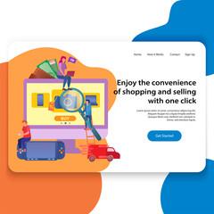 Concept of Landing Page Online Shop Illustration