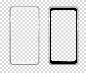 Realistic Cellphone Smartphone Vector of Touchscreen Android Phone frame Device