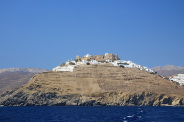 View of Chora Astypalaia, from the boat