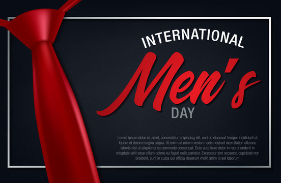 International Men's day banner. Men's day lettering