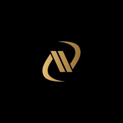gold letter N logo