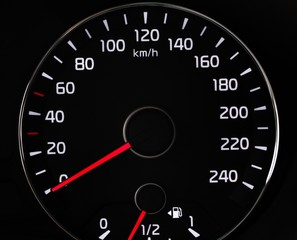Closeup of a Speedometer