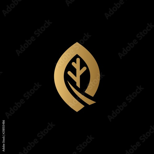 gold tree logo vector