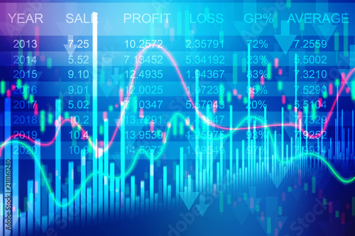 stock market chart business graph background stock photo and